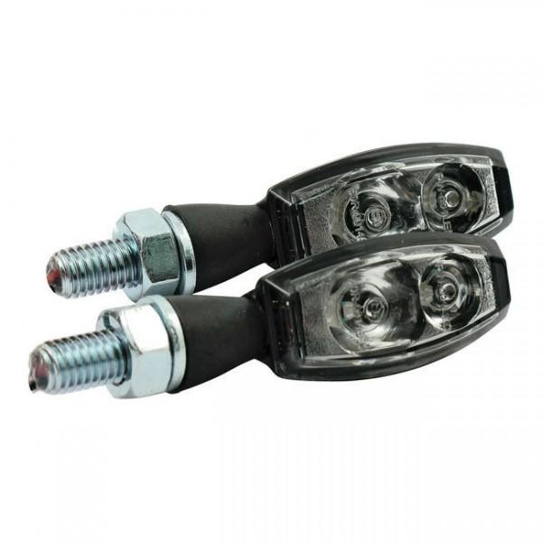 Blinker Blaze Schwarz klare Linse, LED, für Harley-Davidson mit E-Prüfzeichen!