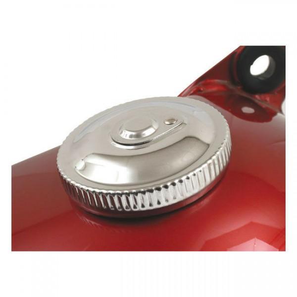 1 Tankdeckel abschließbar, belüftet, Chrom, für Harley - Davidson 83 - 95