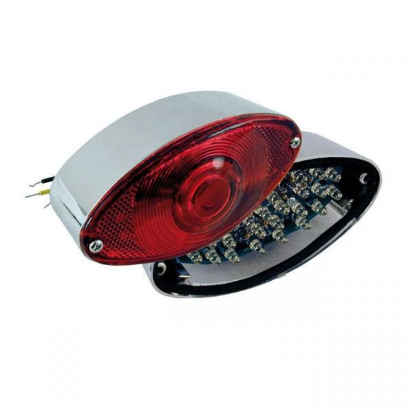 Rücklicht Cateye Chrom, LED, für Harley-Davidson