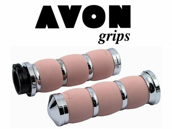 Avon Air Cushioned Griffe, Chrom - Pink , Billet Alu, Harley - Davidson