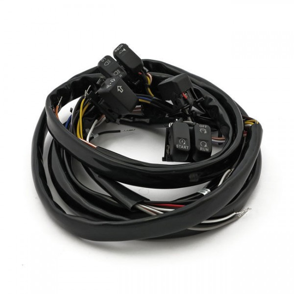 Schalter LED Lenkerarmaturen Schwarz f. Harley-Davidson Softail 07-10 Dyna 07-11