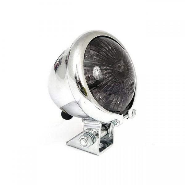 Rücklicht BATES LED's chrom, Glas getönt, für Harley - Davidson