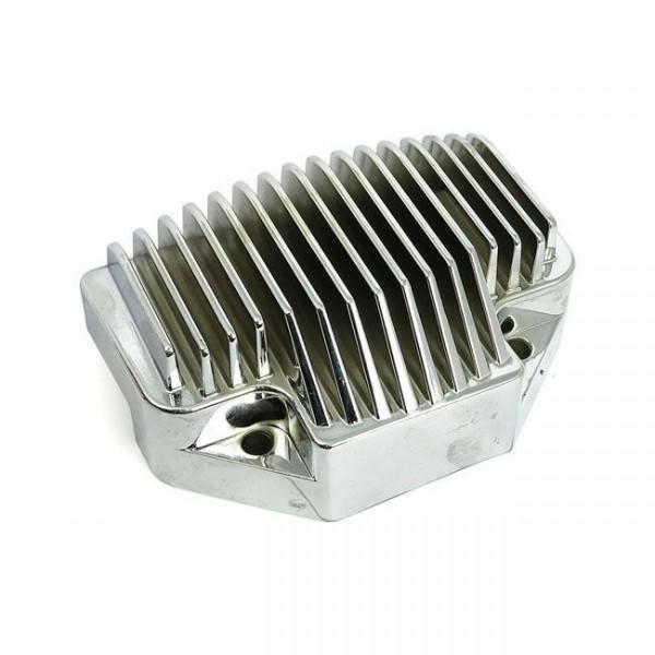 Transpo Lichtmaschinenregler, Chrom, für Harley-Davidson 04-05 Dyna