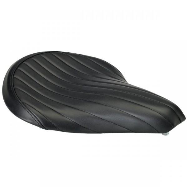 Biltwell Solo - Sitz Tuck & Roll, schwarz, für Harley - Davidson