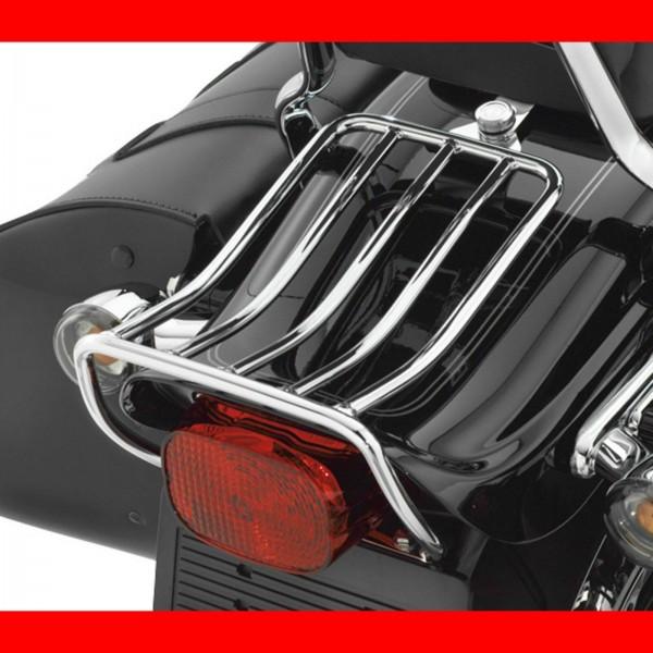 Gepäckträger Fatbob, für Solositz, Chrom, f. Harley - Davidson, Softail 00 - 05