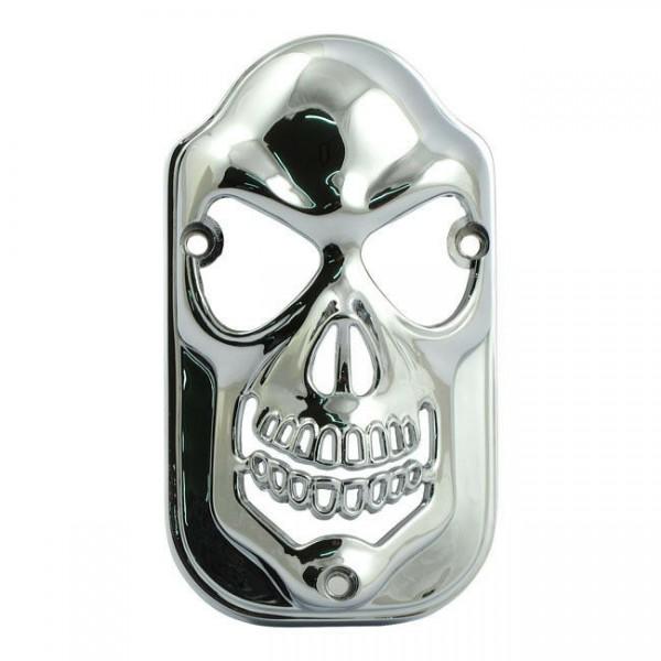 Ziergrill Skull für Rücklicht Tombstone Chrom, für Harley-Davidson