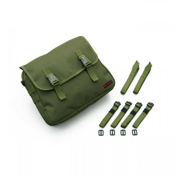 Canvas Packtasche, Satteltasche, 10 Liter Olivgrün, für Harley-Davidson