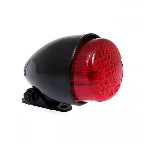 Mini-Ruecklicht, TEXAS schwarzes Geh. für Harley - Davidson