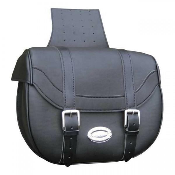 Longride Satteltaschen glatt, schwarz, 42L, für Harley - Davidson
