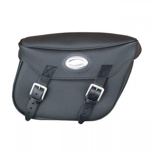 Longride Satteltaschen glatt, schwarz, 30L, f. Harley - Davidson