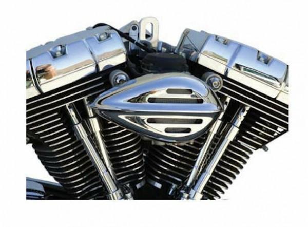 Paughco Luftfilter Sleek Teardrop Rib&Slot, für Harley - Davidson Tillotson