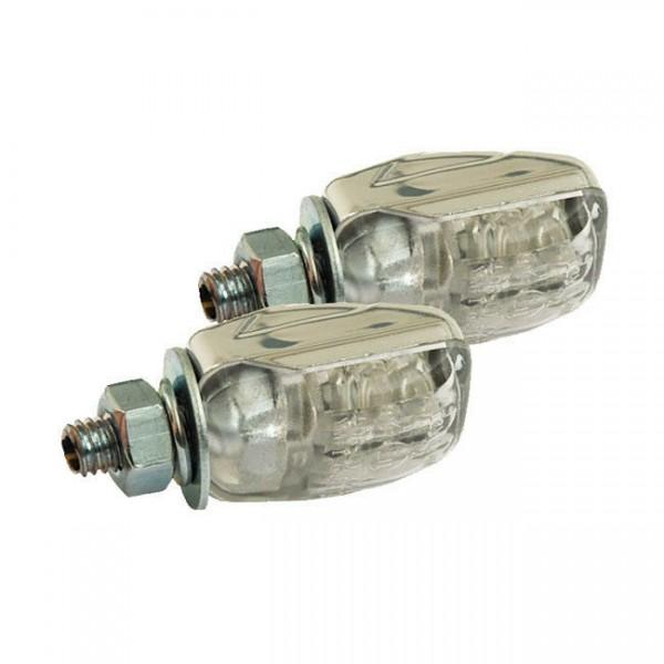 Blinker Mini Picco Chrom, LED, für Harley-Davidson mit E-Prüfzeichen!