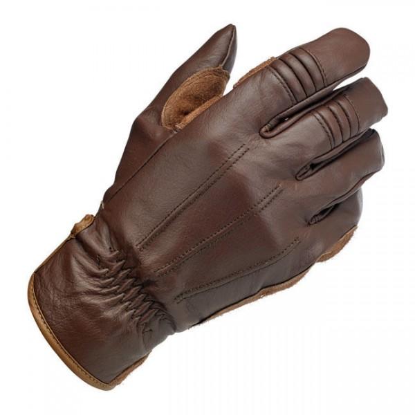 Biltwell Work Motorrad Handschuhe, Echtleder, braun Größe L