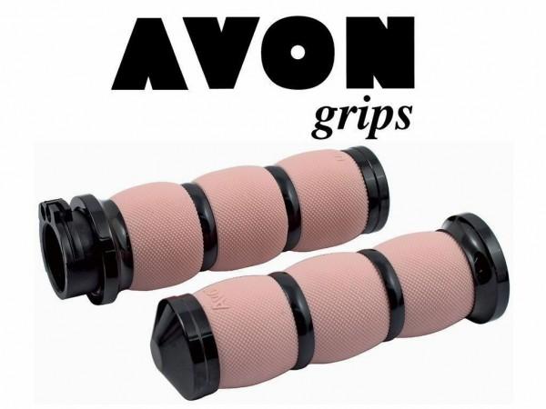 Avon Air Cushioned Griffe, Schwarz - Pink , Billet Alu, Harley - Davidson