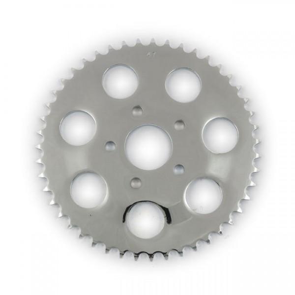 Kettenrad, Ritzel, Sprocket 49 Zähne Chrom, für Harley-Davidson Sportster 82-85