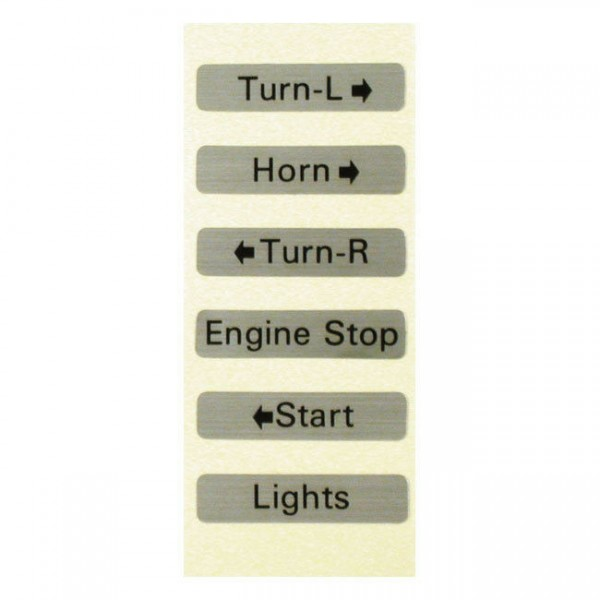 1 Satz Aufkleber für 1 Paar Schaltergehäuse für Harley-Davidson FL, FX, XL 72-81