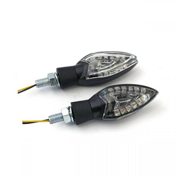 Blinker Spades Schwarz, LED, für Harley-Davidson mit E-Prüfzeichen!
