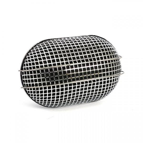 Breather Style Luftfilter Oval Chrom für Harley-Davidson mit Bendix, Tillotson