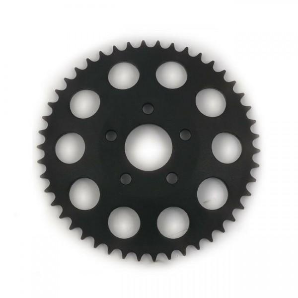 Kettenrad, Ritzel, Rear Sprocket 49 Zähne Schwarz, für Harley-Davidson FXR 82-85