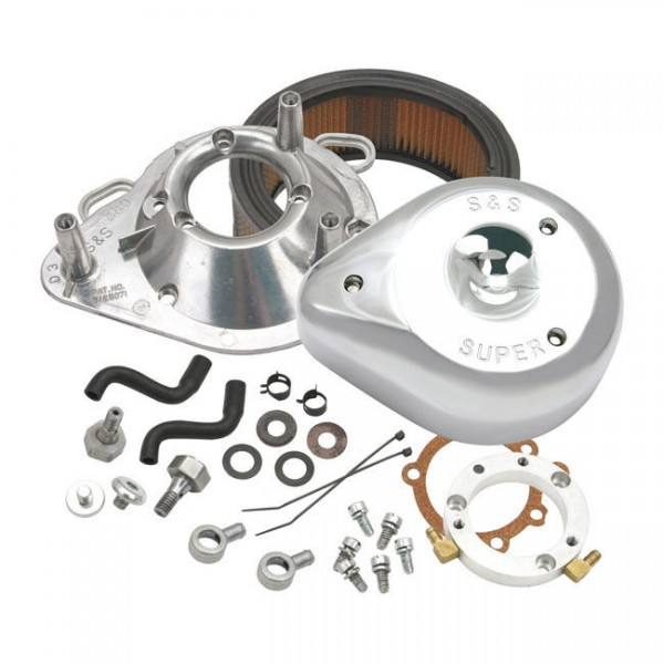 S&S Luftfilter Teardrop Chrom f. Harley - Davidson 91 - 11 XL Keihin CV, Delphi
