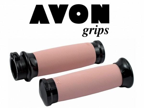 Avon Custom Contour Griffe Schwarz- Pink , Billet, Harley - Davidson FLT ab 08