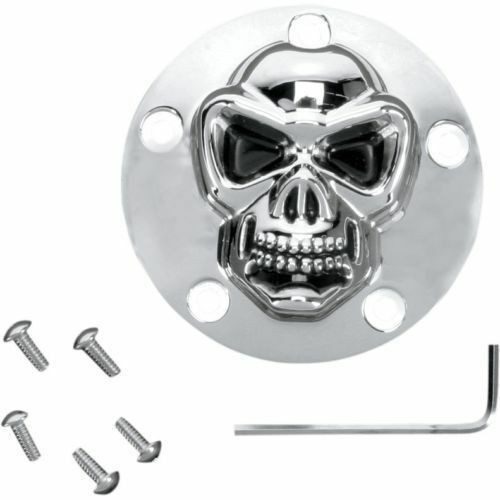 3D Skull Zündungsdeckel Point Cover , f. Harley - Davidson Twin Cam 99 - heute