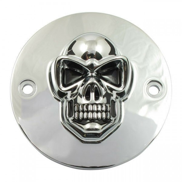3D Skull Zündungsdeckel Point Cover , f. Harley - Davidson Big Twin 70 - 99