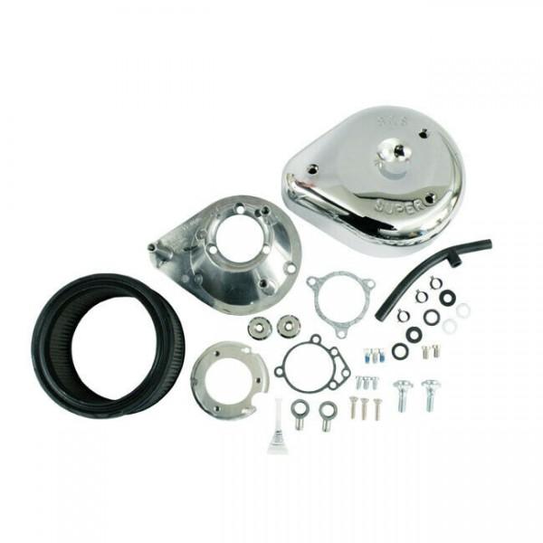 S&S Luftfilter Teardrop Chrom, für Harley - Davidson 08-17 mit E-Gas