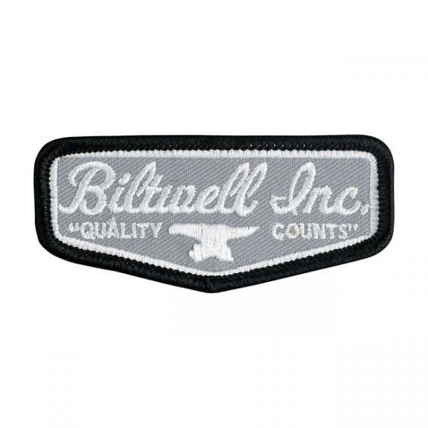 """Biltwell Schield 3"""" Patch grau, schwarz, weiß"""