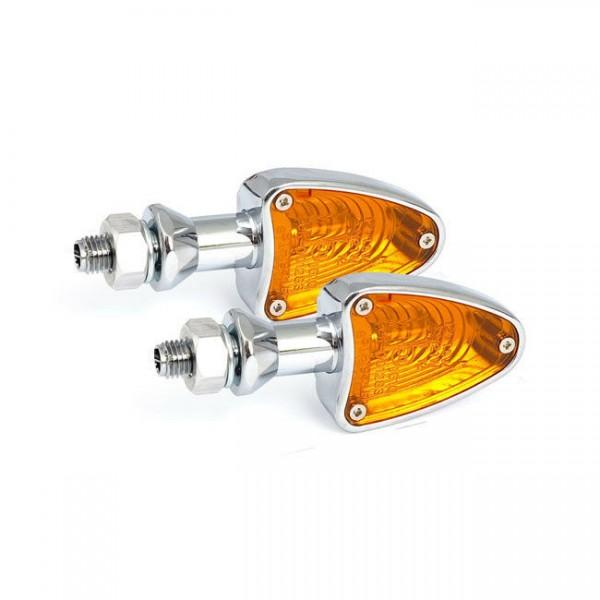 Blinker Arrezo Chrom, 10 Watt, für Harley-Davidson mit E-Prüfzeichen!