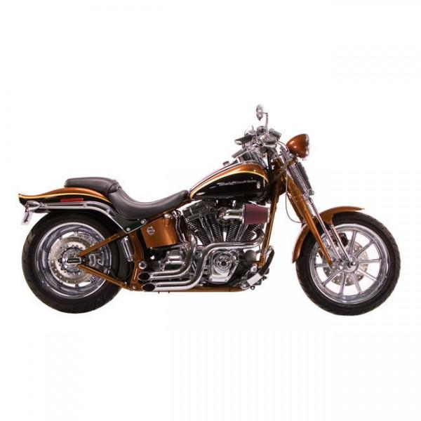 Paughco Auspuffanlage Dump Pipes Chrom, f. Harley - Davidson Softail 1986 - 2006