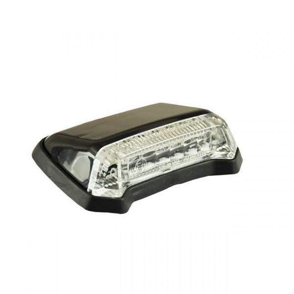 Rücklicht Nitro schwarz, LED klar, für Harley-Davidson mit E-Prüfzeichen