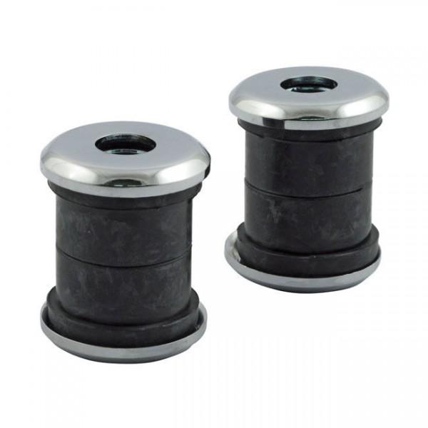 Riser Dämpfer Gummi, mit Scheiben Chrom, für Harley - Davidson