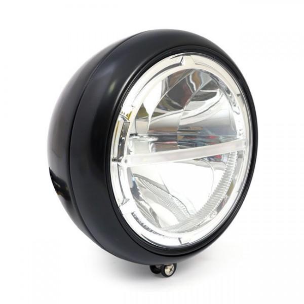 """Scheinwerfer LED FL 7"""" Schwarz, für Harley - Davidson mit E-Prüfzeichen"""