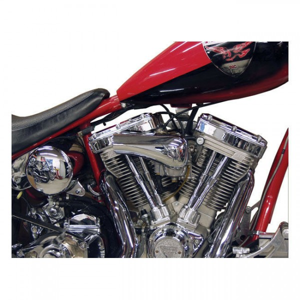 Paughco Luftfilter Early Style glatt Chrom, für Harley - Davidson S&S 92-07