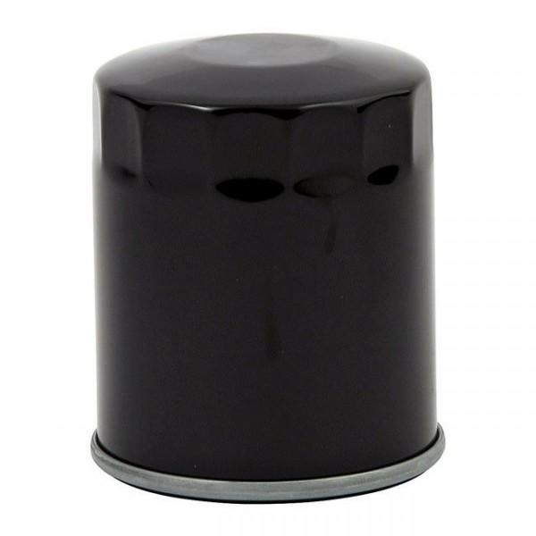 Ölfilter,kurz, schwarz; für Harley-Davidson, Shovelhead, Sportster, Evolution;