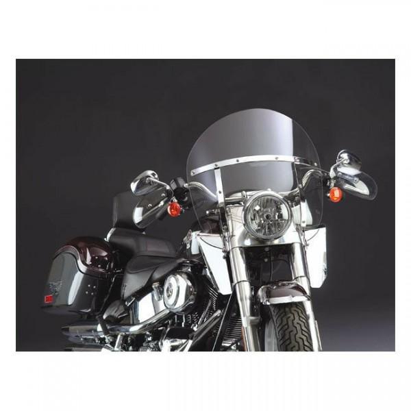 N. Cycles Switchblade Chopped Windshield, klar f. Harley-Davidson FLST 86-17