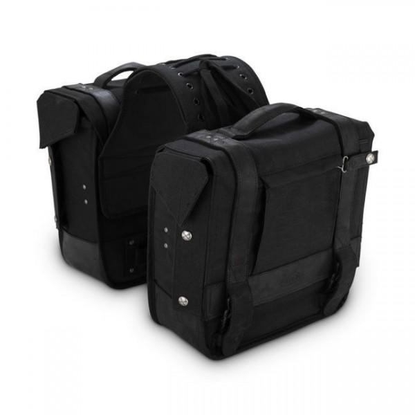 Burly Voyager Packtaschen 1 Paar Satteltaschen, Schwarz, für Harley-Davidson