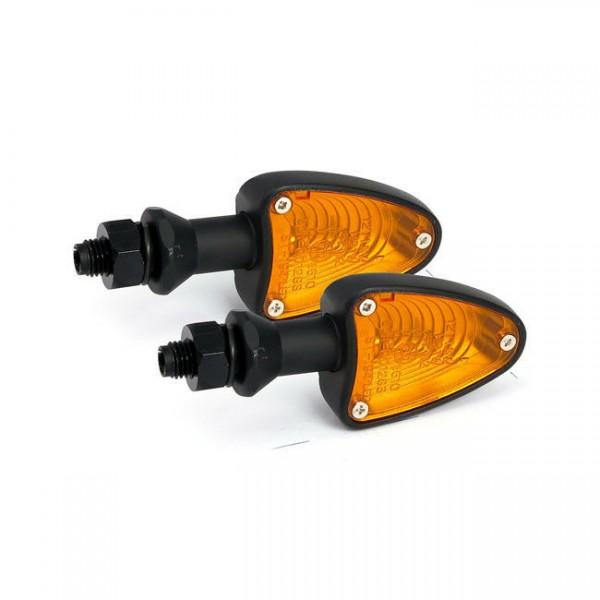 Blinker Arrezo Schwarz, 10 Watt, für Harley-Davidson mit E-Prüfzeichen!