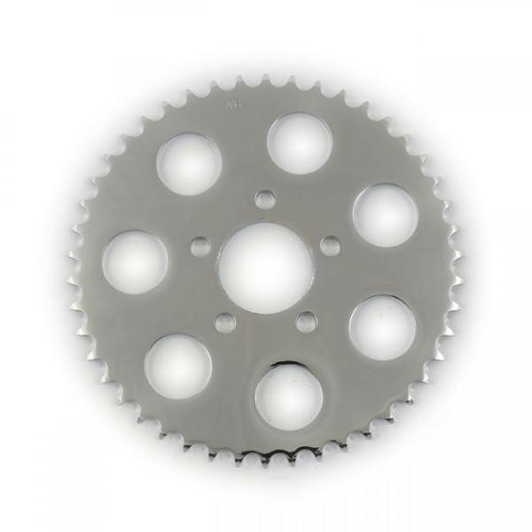 Kettenrad, Ritzel, Sprocket 46 Zähne Chrom, für Harley-Davidson B.T., XL 00-17