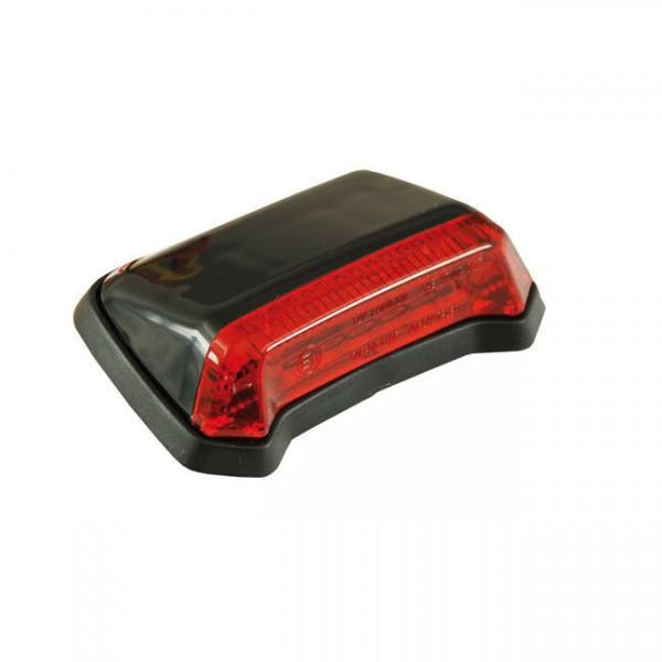 Rücklicht Nitro schwarz, LED rot, für Harley-Davidson mit E-Prüfzeichen