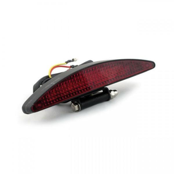 Rücklicht Interstate Schwarz, LED rot, für Harley-Davidson mit E-Prüfzeichen